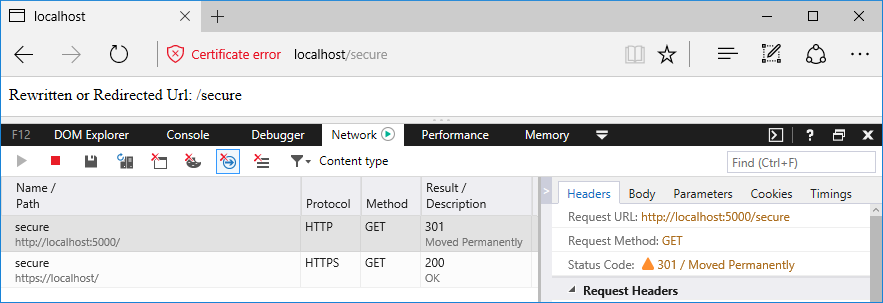 URL Rewriting Middleware in ASP NET Core | Microsoft Docs