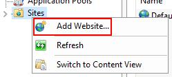 사이트 도구 메뉴에서 웹 사이트 추가를 클릭하십시오.