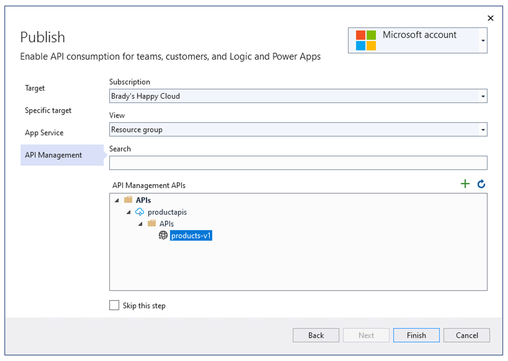 Azure API Management Import