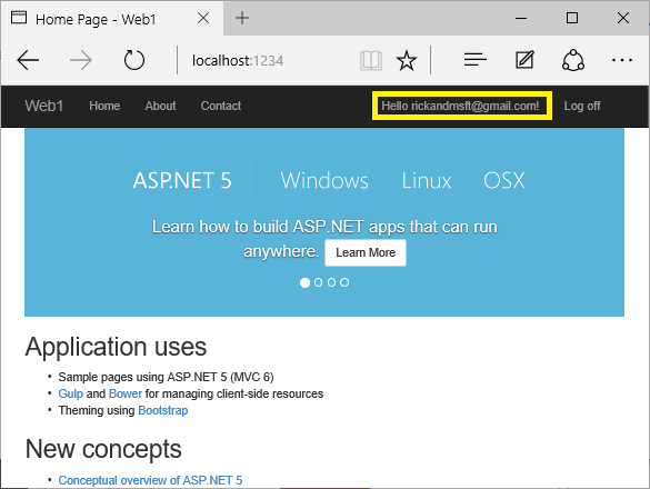 Account confirmation and password recovery in ASP NET Core