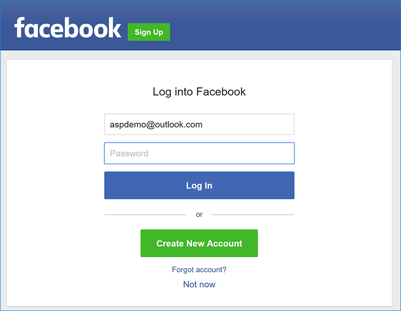 Facebook external login setup in ASP.NET Core | Microsoft Docs