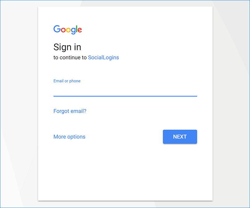 Google external login setup in asp net core microsoft docs Google sites sign in
