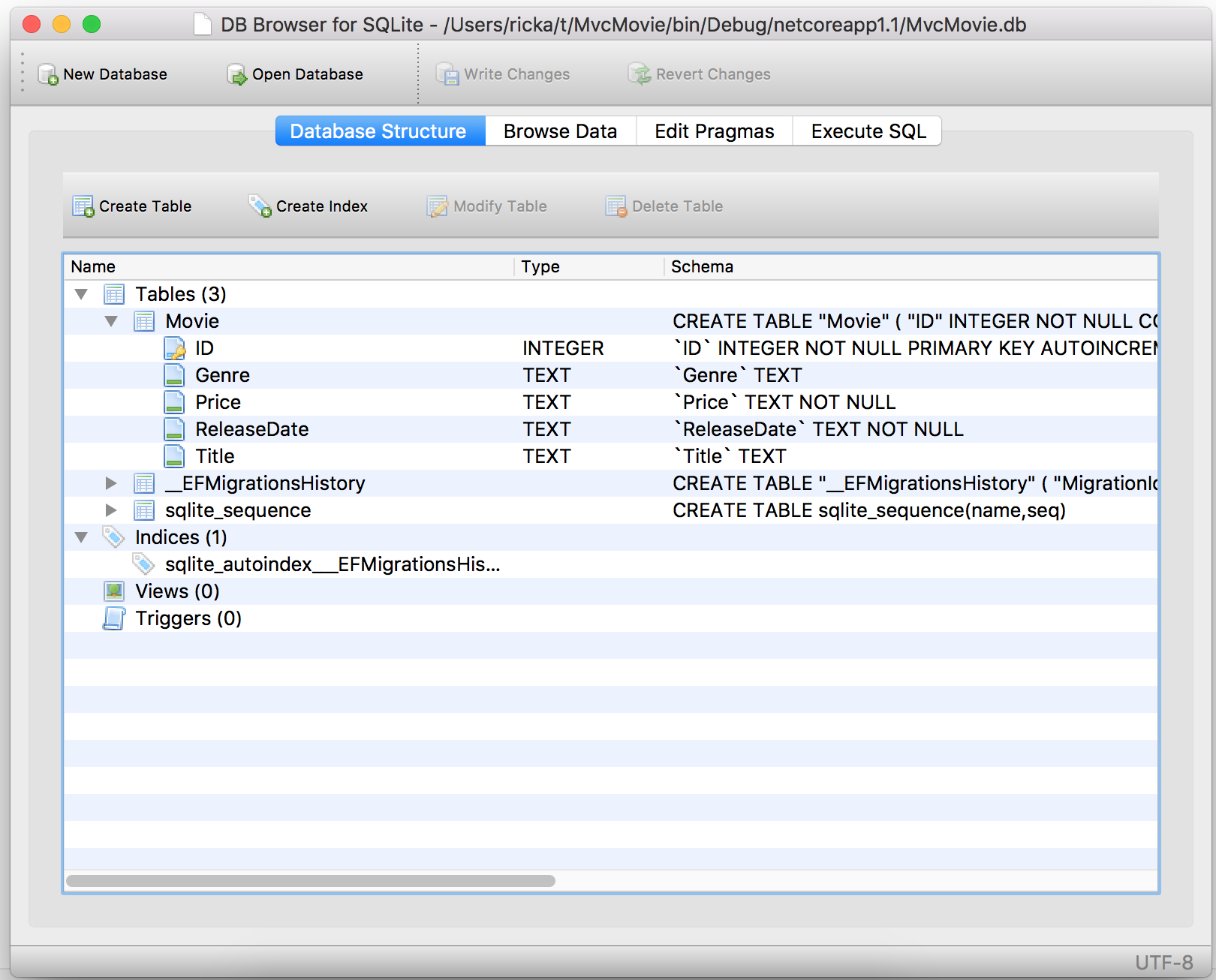 Working with sqlite microsoft docs db browser for sqlite showing movie db baditri Gallery