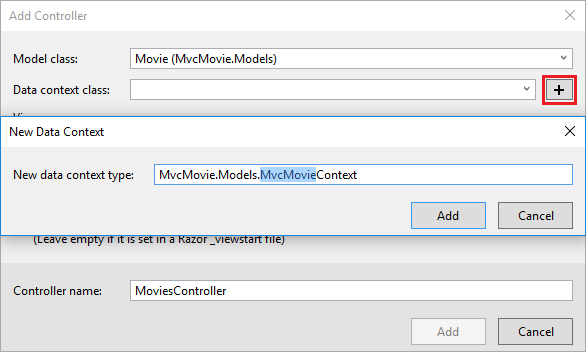 how to add controller in mvc