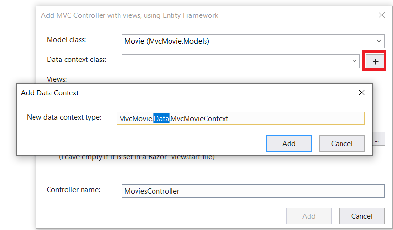 Add a model to an ASP NET Core MVC app | Microsoft Docs