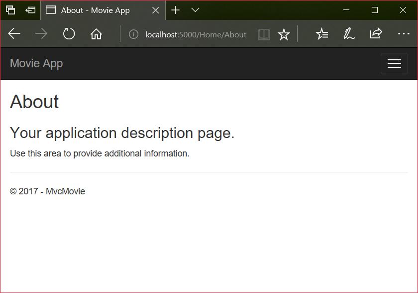 Add a view to an ASP NET Core MVC app | Microsoft Docs