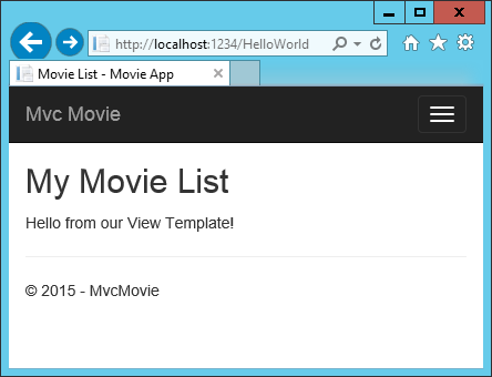 Add a view to an ASP NET Core MVC app | Microsoft Docs