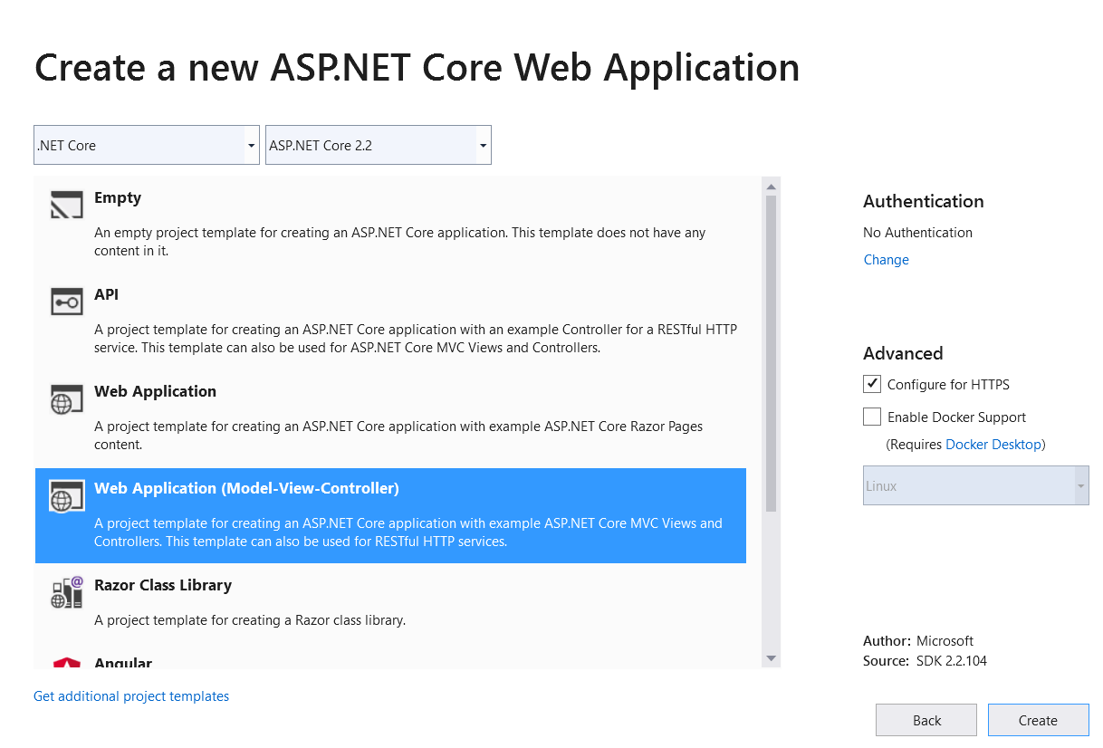 Get started with ASP NET Core MVC | Microsoft Docs