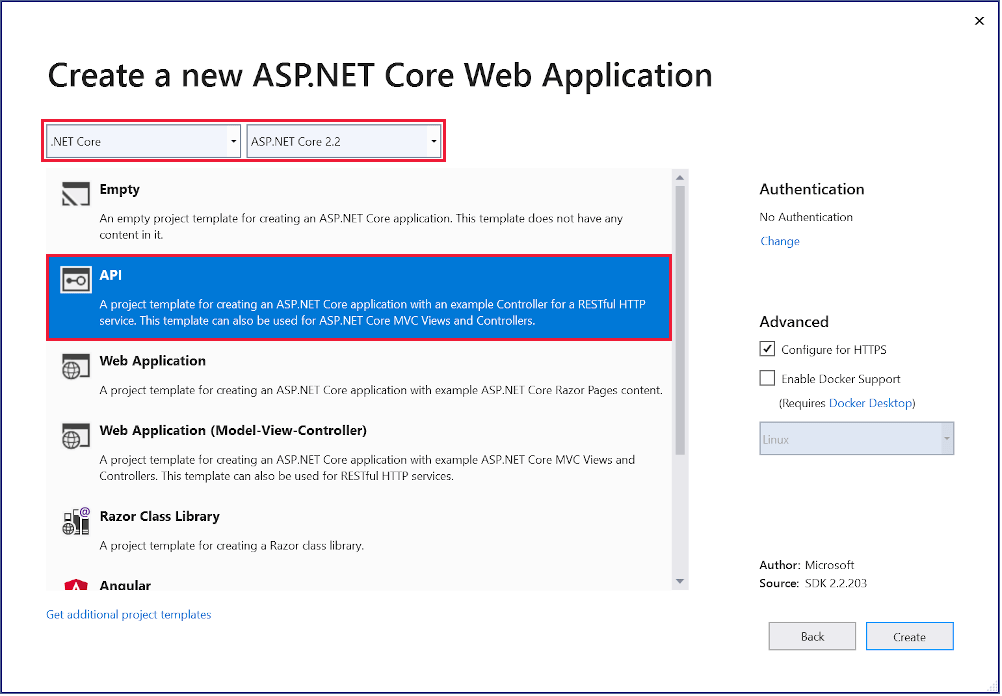Create a web API with ASP.NET Core MVC