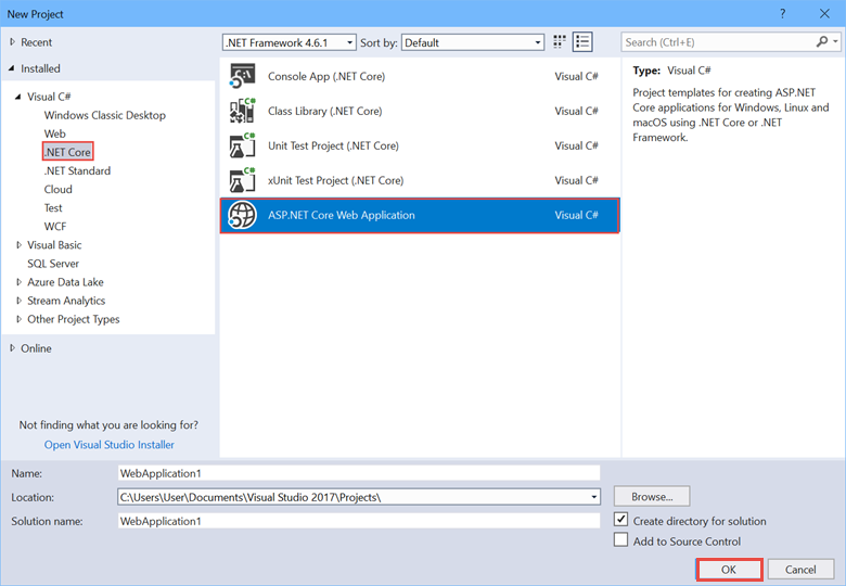 Publish an ASP NET Core app to Azure with Visual Studio