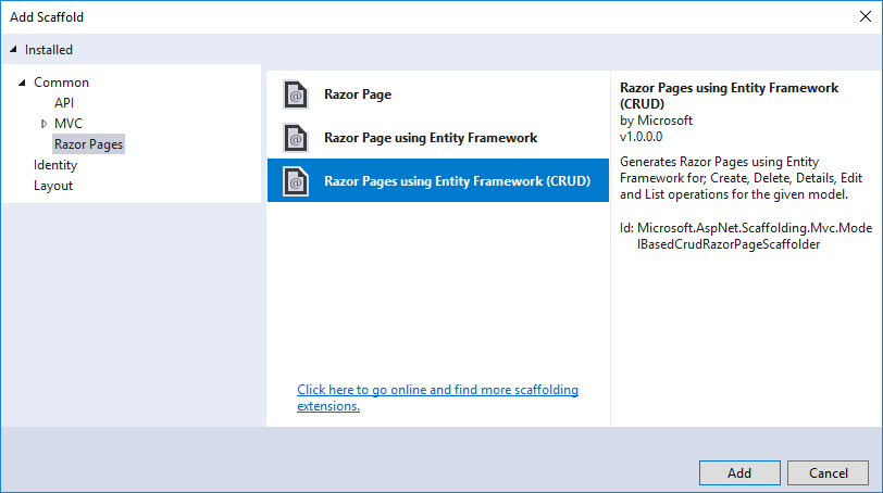 Add a model to a Razor Pages app in ASP NET Core   Microsoft