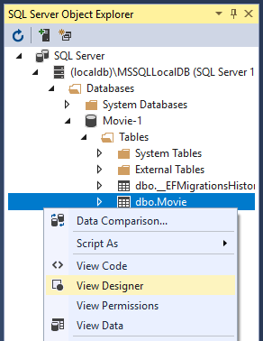 Work with a database and ASP NET Core   Microsoft Docs