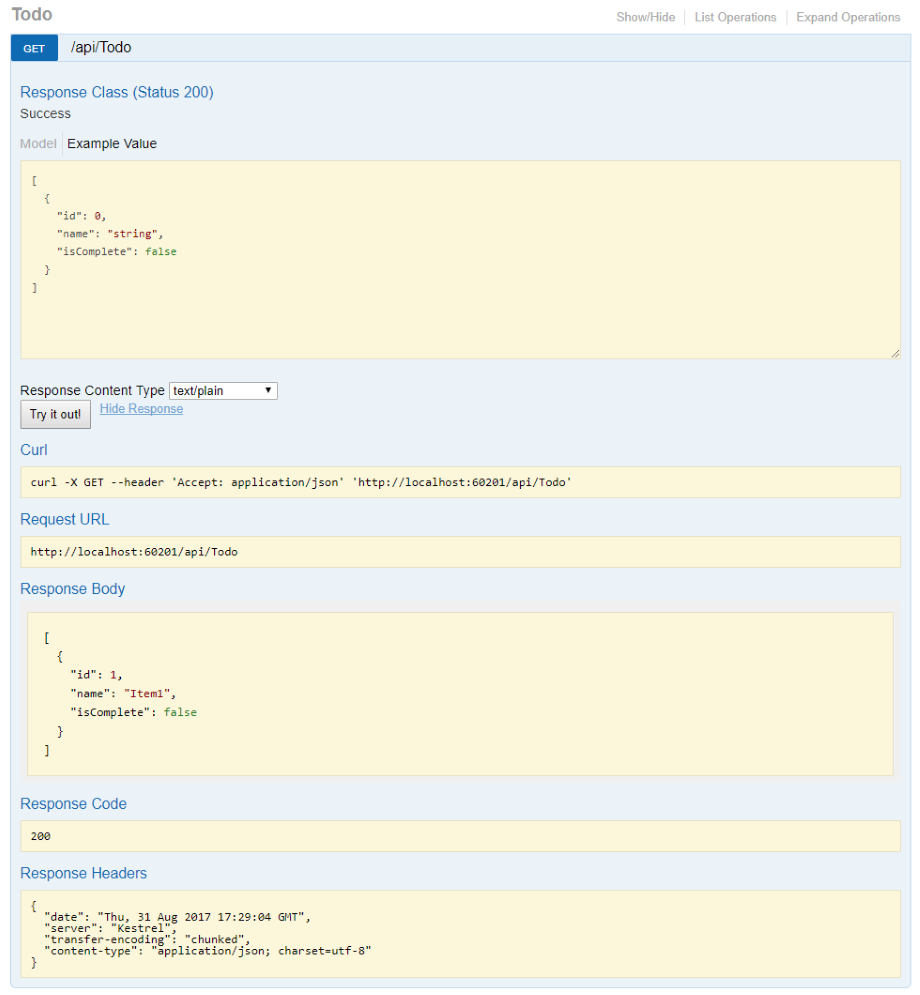 Asp Core Web Api Help Pages With Swagger Open Api Microsoft Docs