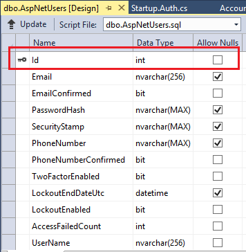 Change Primary Key For Users In Aspnet Identity Microsoft Docs