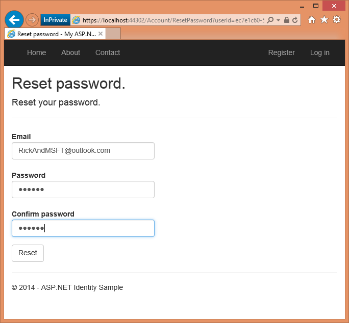 Account Confirmation & Password Recovery - ASP NET Identity