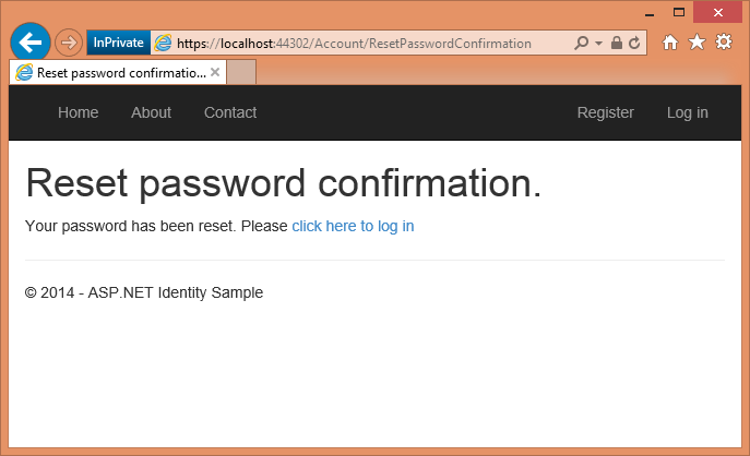 Account Confirmation And Password Recovery With Aspnet Identity C