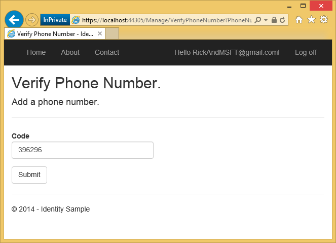 Two-factor authentication using SMS and email with ASP NET