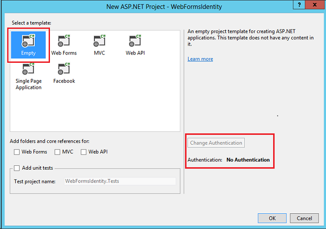 Adding Asp Net Identity To An Empty Or Existing Web Forms