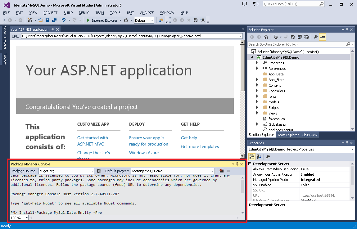 overview getting started with aspnet