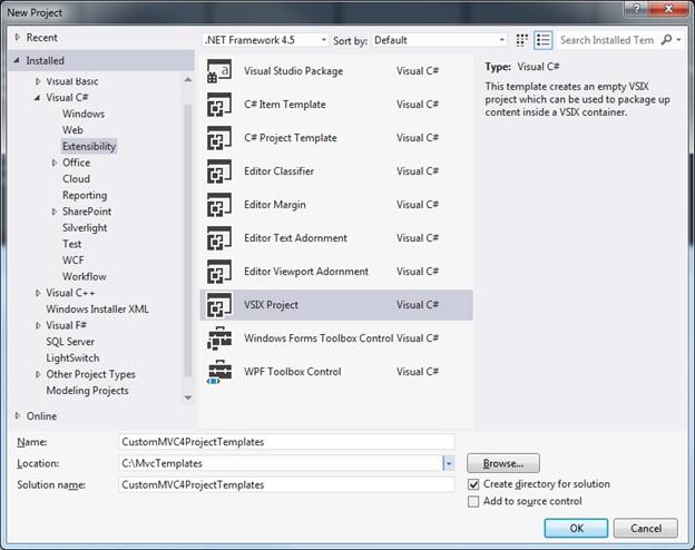 custom mvc template microsoft docs