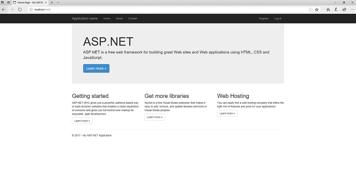 Getting Started With Asp Mvc 5 Microsoft Docs