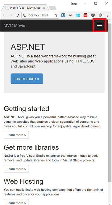 Getting Started with ASP NET MVC 5 | Microsoft Docs