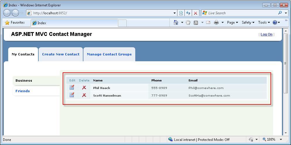 Iteration #7 – Add Ajax functionality (C#) | Microsoft Docs