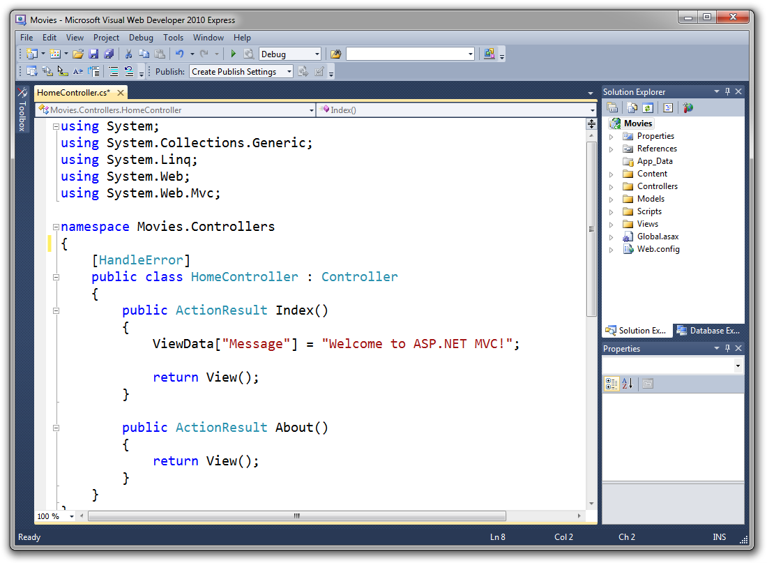 Intro to ASP NET MVC | Microsoft Docs