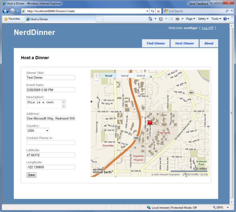 Use AJAX To Implement Mapping Scenarios Microsoft Docs - Location mapping software