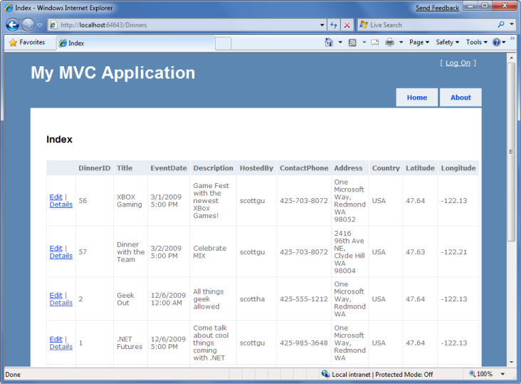 Use Controllers And Views To Implement A Listing Details Ui Microsoft Docs