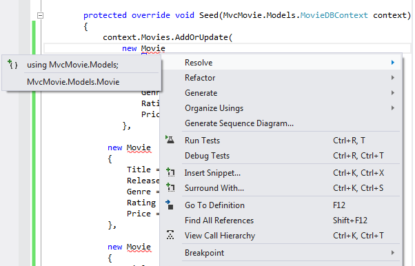 Adding A New Field To The Movie Model And Table Microsoft Docs Amazing Fixed Action Pattern Definition