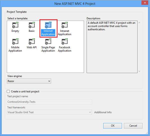 asp net menu templates - creating an entity framework data model for an asp net mvc