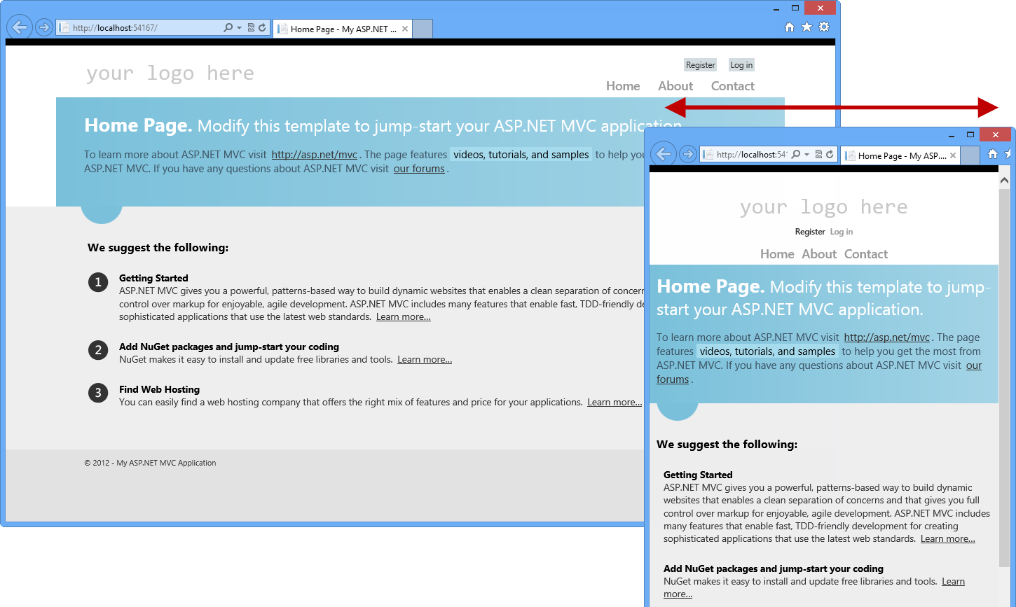 Asp mvc 4 fundamentals microsoft docs asp mvc 4 project template in different browser sizes pronofoot35fo Gallery