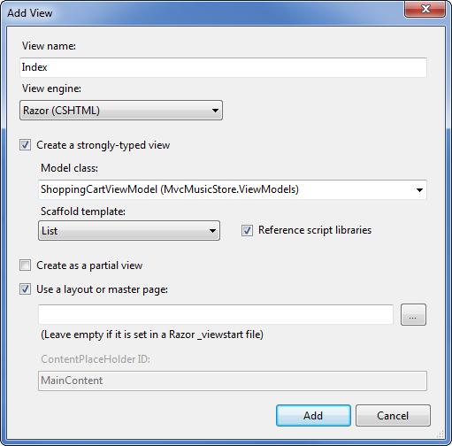 Part 8: Shopping Cart with Ajax Updates | Microsoft Docs