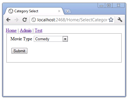 Using the DropDownList Helper with ASP NET MVC | Microsoft Docs