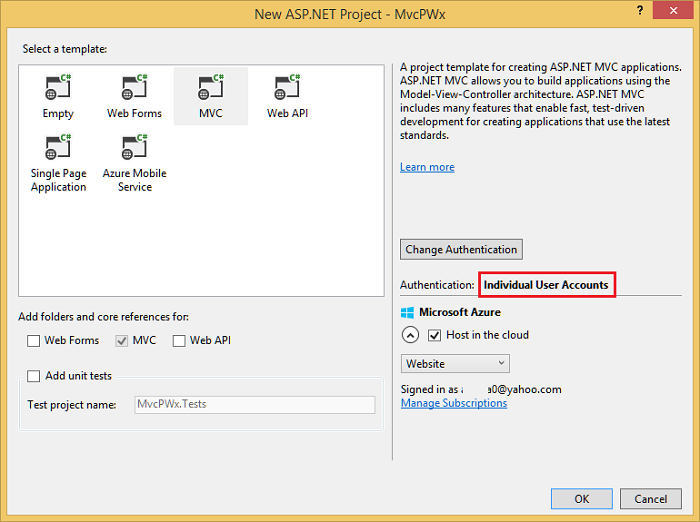 Create A Secure Aspnet Mvc 5 Web App With Log In Email