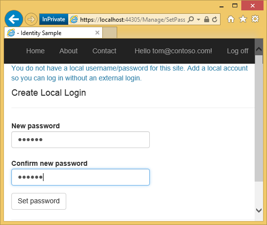 Create a secure ASP NET MVC 5 web app with log in, email