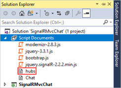 Tutorial: Real-time chat with SignalR 2 and MVC 5 | Microsoft Docs