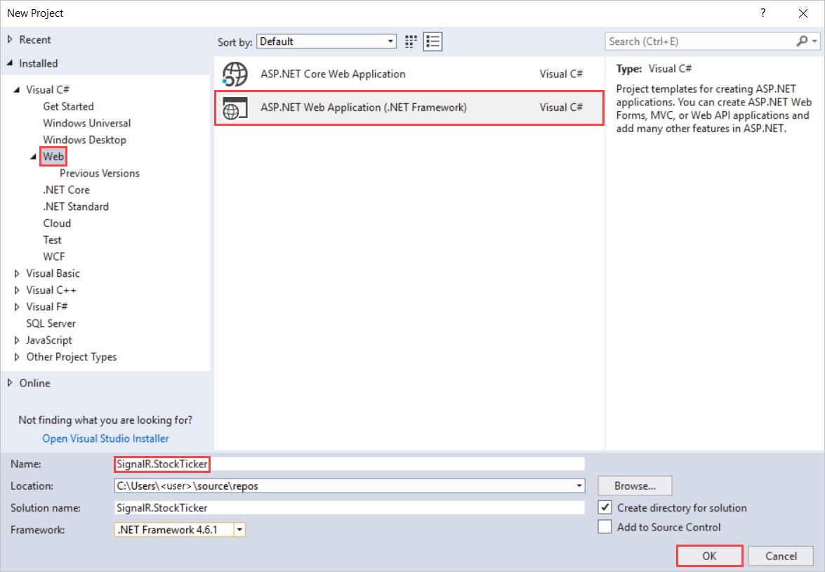 Tutorial: Server broadcast with SignalR 2 | Microsoft Docs