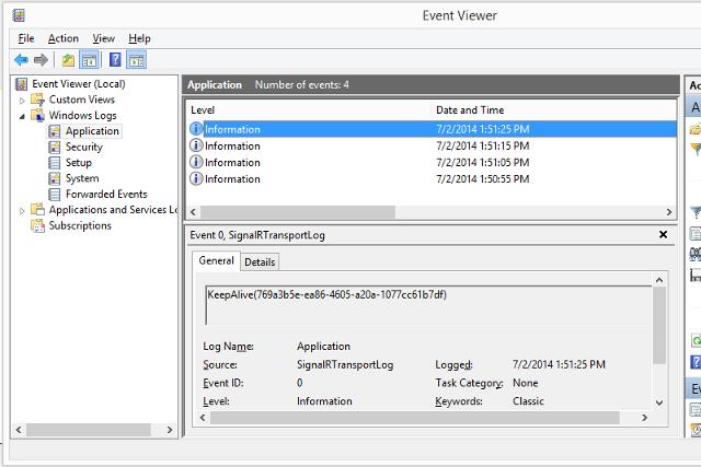 Enabling SignalR Tracing | Microsoft Docs