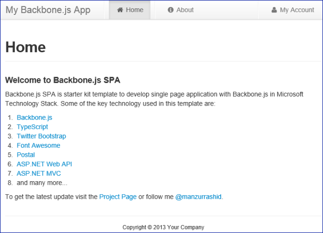 backbone template microsoft docs