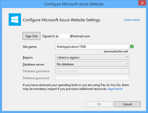 Creating asp web projects in visual studio 2013 microsoft docs configure azure app settings ccuart Gallery