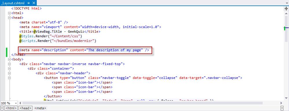 Hands On Lab: Visual Studio 2013 Web Tools   Microsoft Docs