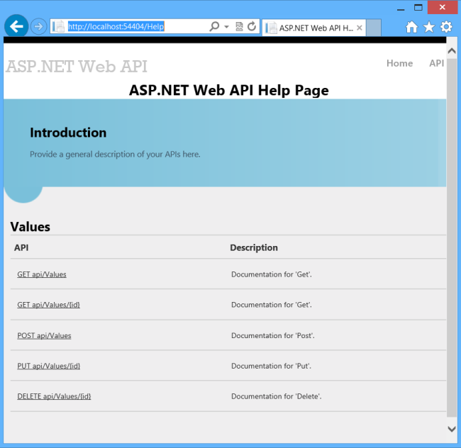 Creating Help Pages for ASP NET Web API - ASP NET 4 x