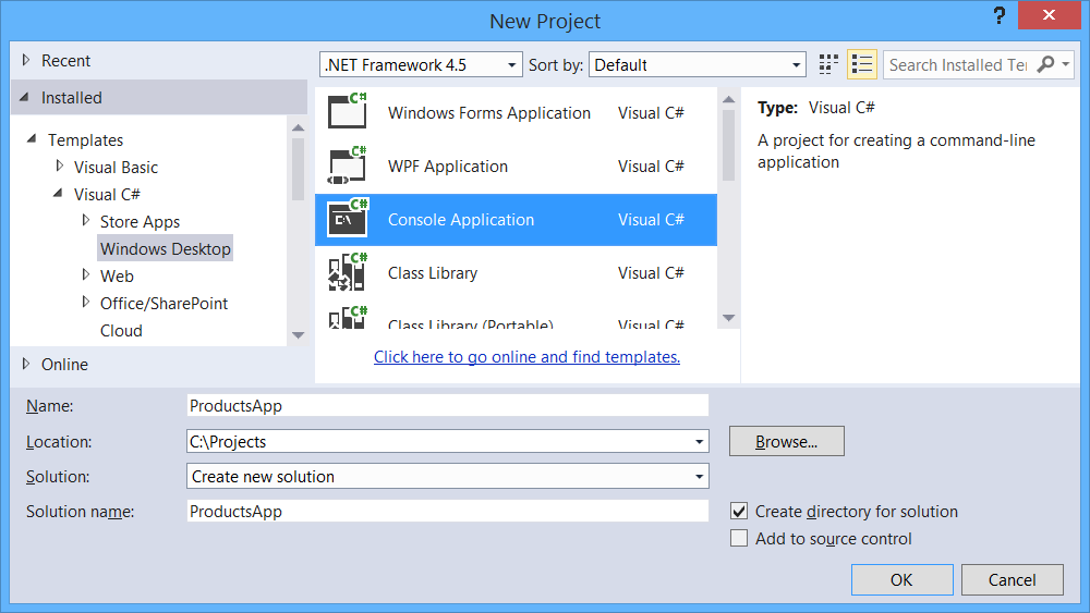 Create an OData v4 Client App (C#)   Microsoft Docs