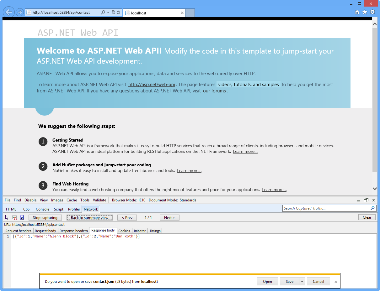 Build restful apis with asp web api microsoft docs json serialized output of a complex web api method call baditri Choice Image
