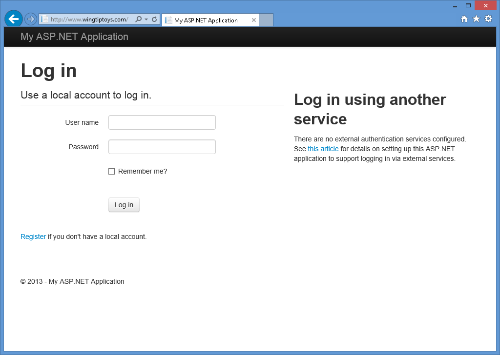 Validating user input in windows forms authentication