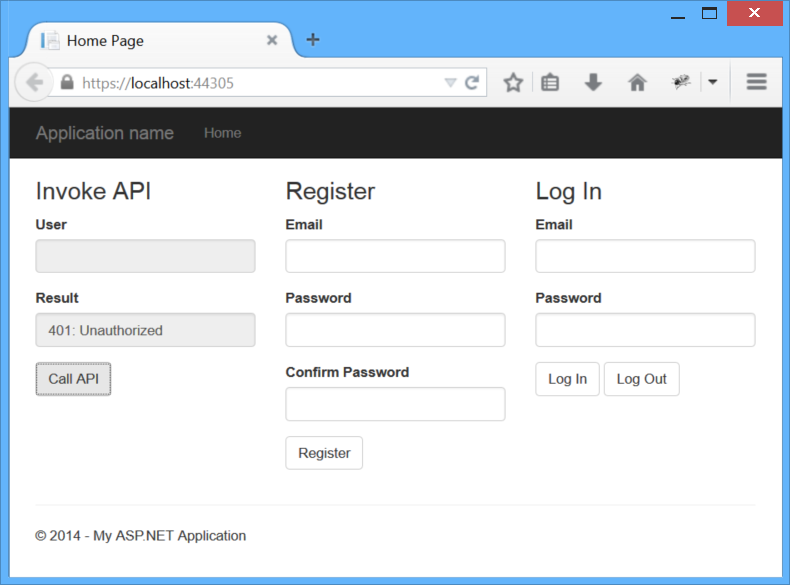Secure a Web API with Individual Accounts and Local Login in ASP NET