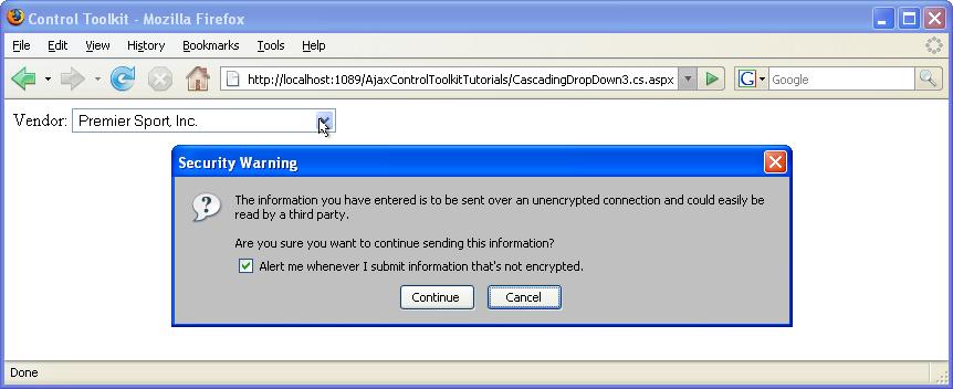 Using Auto-Postback with CascadingDropDown (C#) | Microsoft Docs