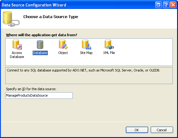 Inserting, Updating, and Deleting Data with the SqlDataSource (C